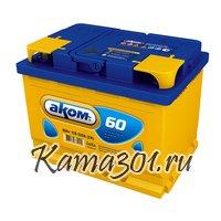 АКОМ 6СТ-60 12V 60Ah 520A Обратная полярность