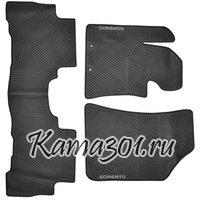 Комплект ковриков KIA-SORENTO(2009-) латексный ПВХ