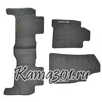 Комплект ковриков TOYOTA-LAND CRUISER LC200 (2010-) латексный ПВХ