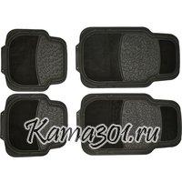 Комплект универсальных ковриков AM003 2326 ПВХ с ковровой вставкой